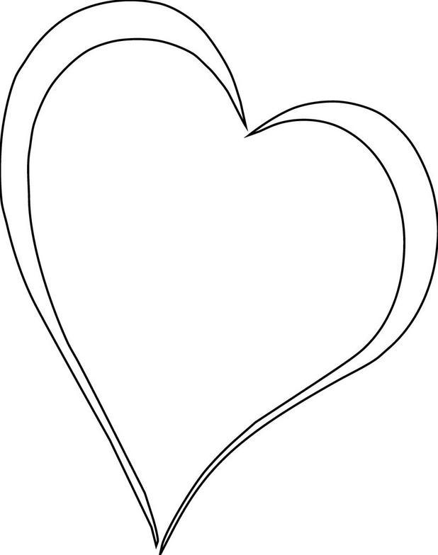 618x784 Line Art Heart Black Heart Shape Line Art Sequence On White Stock