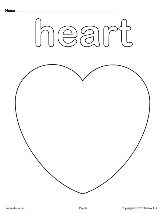 coloring pages heart shapes - photo#4