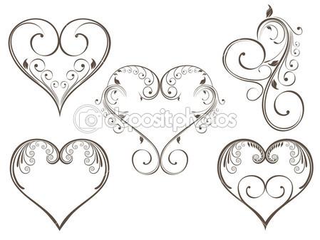 449x337 Vector Illustration Of Vintage Design Heart Shape For Valentine