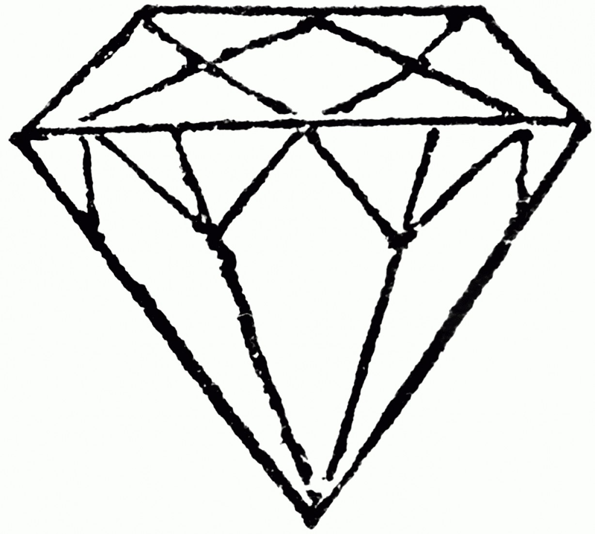 1228x1102 D Diamond Drawing How To Draw A D Diamond Pencil Art Drawing