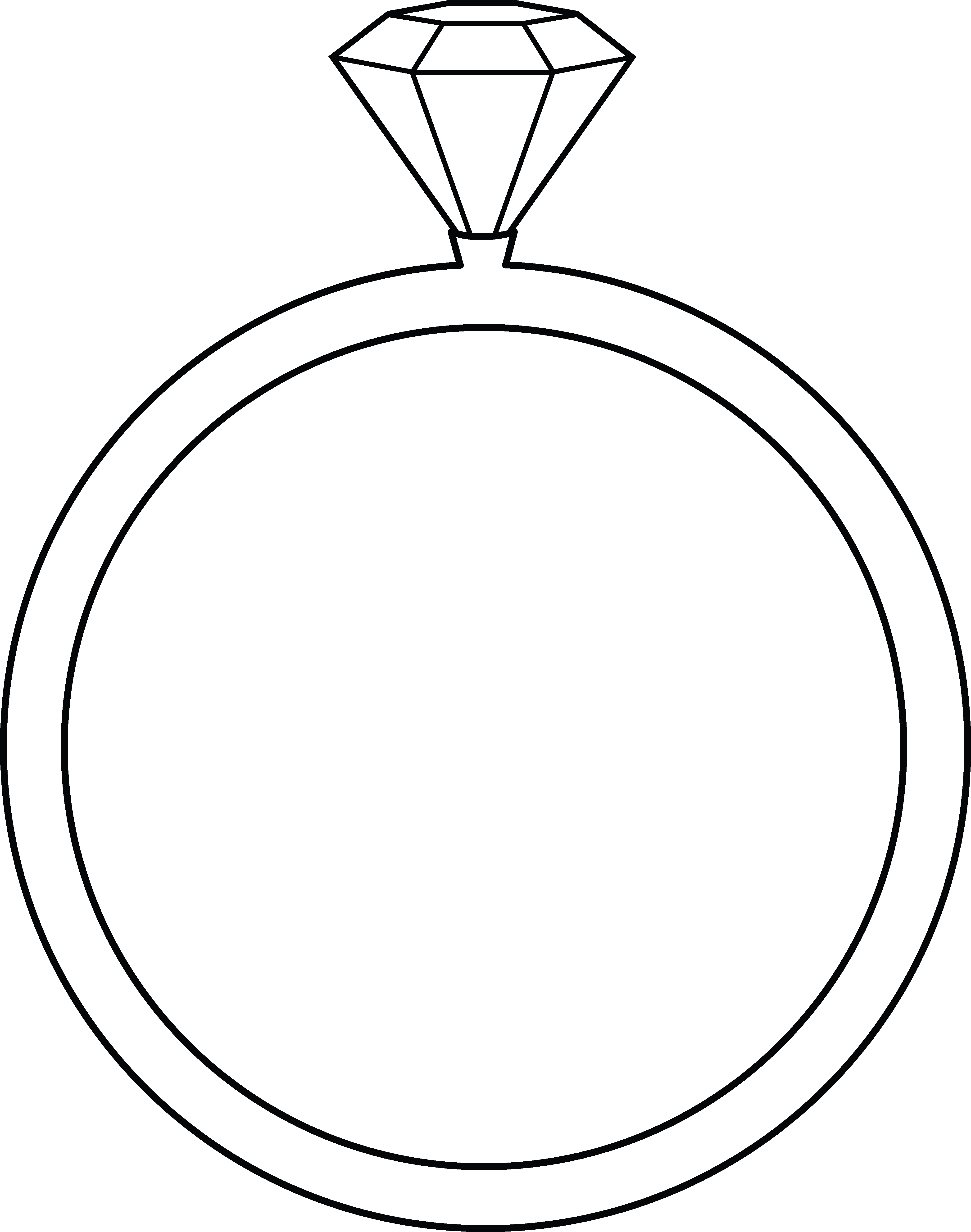 4098x5200 Diamond Ring Line Art