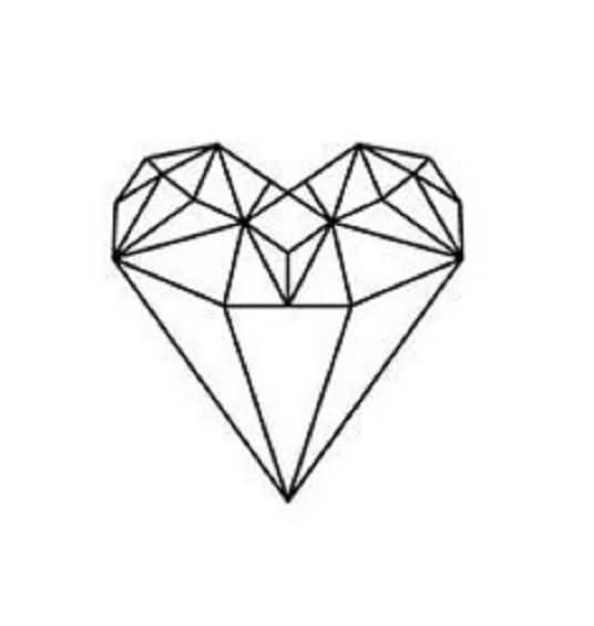 536x565 Diamond Tattoo Design Ultimate Heart Shaped Animated Diamond