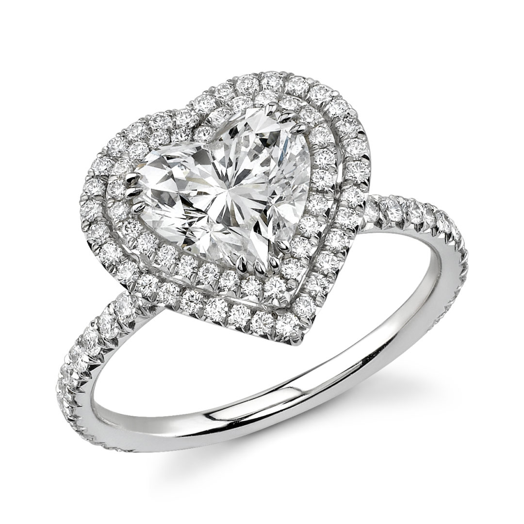 1080x1080 Double Halo Heart Shaped Diamond Ring Nicole Mera