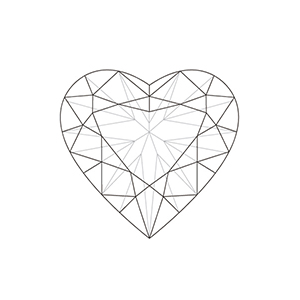 300x300 Drawn Diamonds Diamond Heart