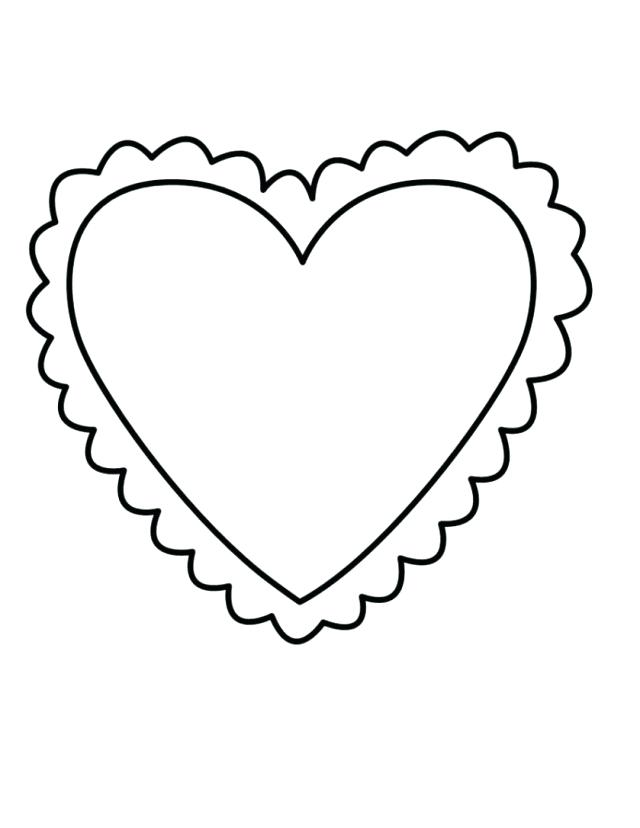 640x828 Heart Shape Coloring Pages Heart Shape Coloring Page Heart Shaped