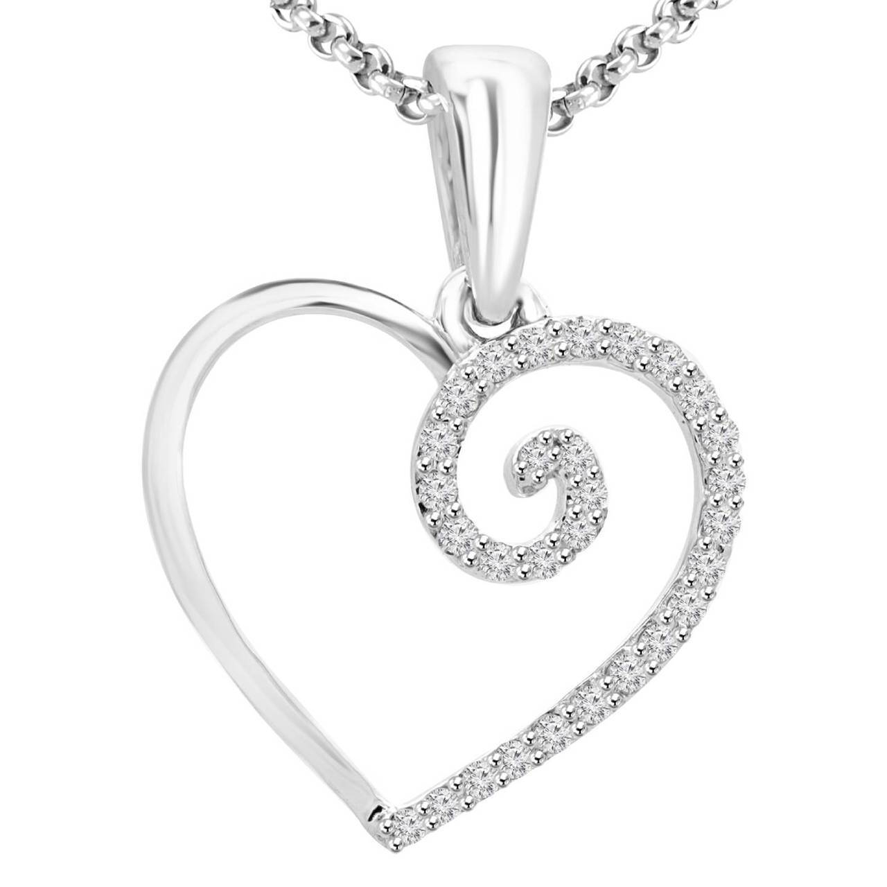 1280x1280 Heart Shaped Pendant Necklace Bijoux Majesty