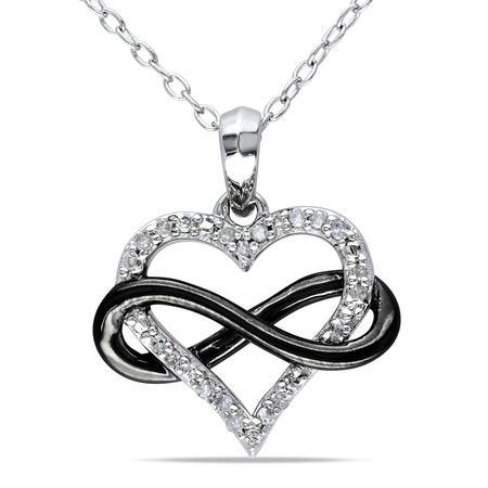 450x450 Julie Leah 1 Ct Diamond Encrusted Heart Shaped Pendant Necklace