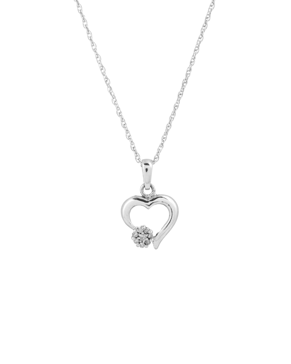 1000x1250 Buy Elegant 925 Sterling Silver Heart Shaped Diamond Pendant
