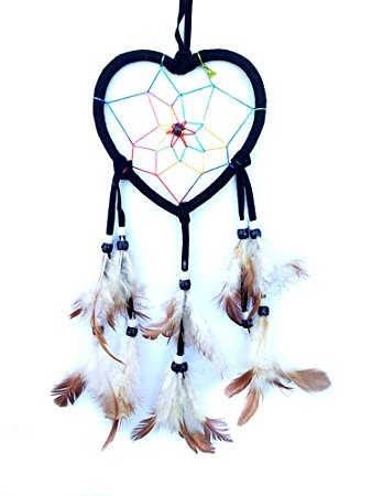338x450 Handmade Heart Shaped Dream Catcher Car Or Wall Hanging (