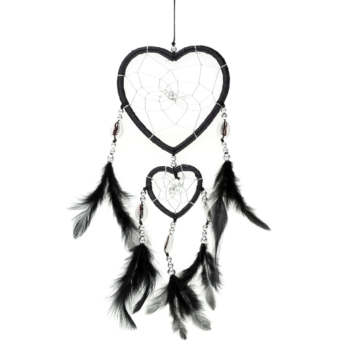 500x500 Heart Shaped Handmade Dream Catcher With Feather Bead Shell