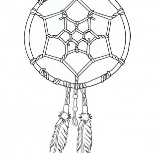 308x308 Mandala To Download Free Dreamcatcher Free To Print. Kids Coloring