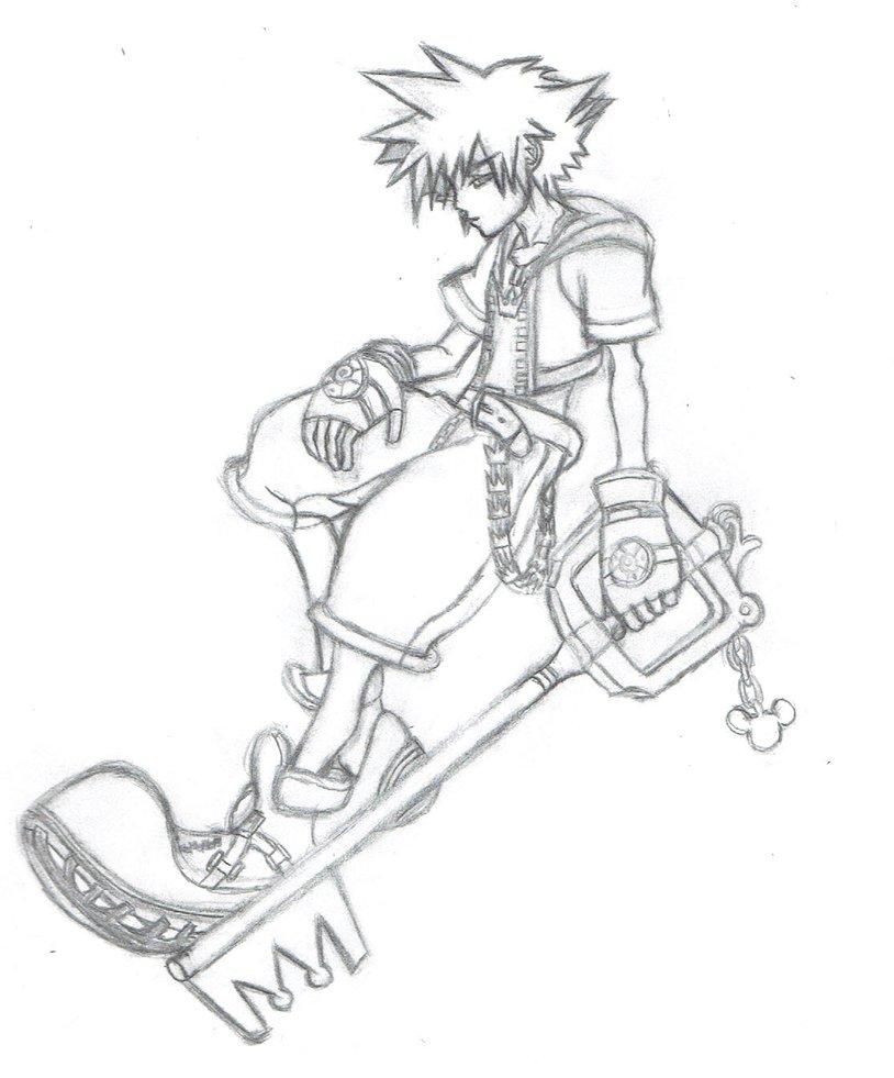 814x981 Kingdom Hearts Sora Sketch By Almightybhunivelze