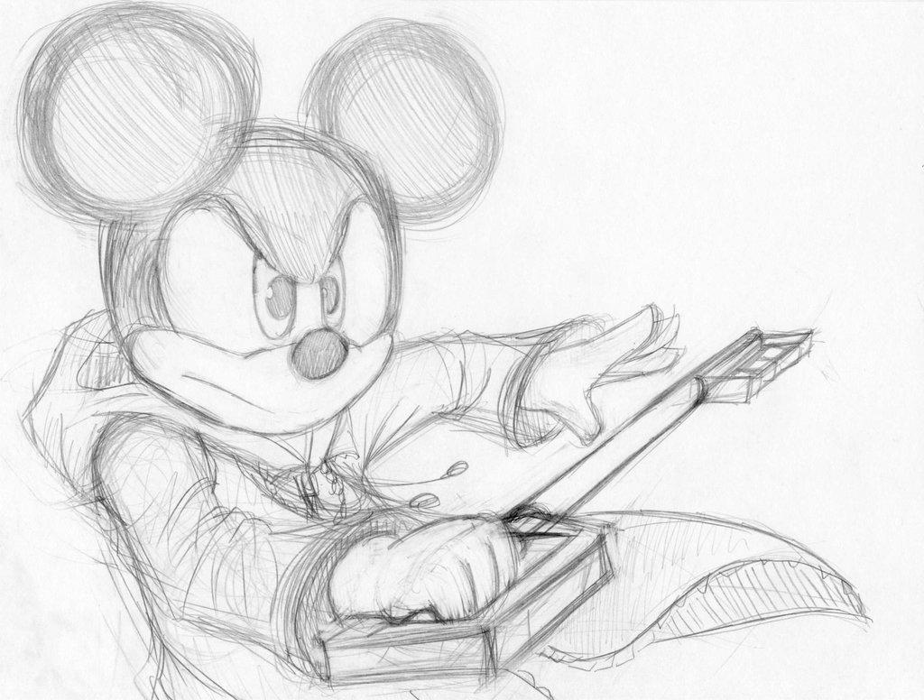 1024x776 Mickey Sketch (Kingdom Hearts) By Tony Arts