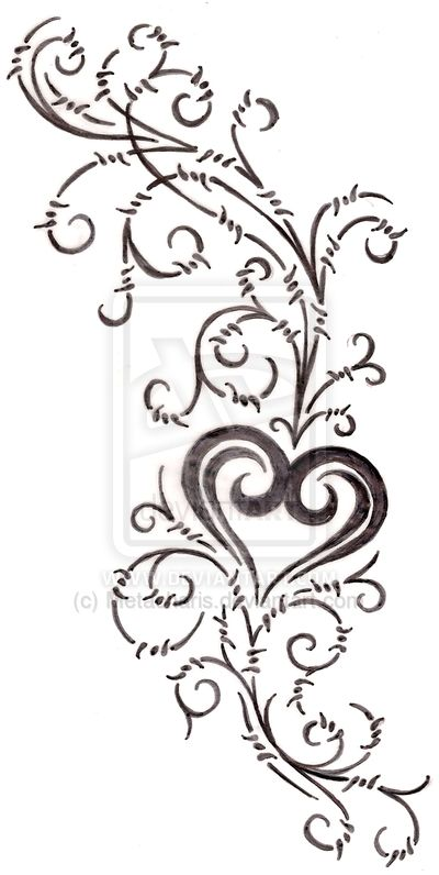 400x796 19 Best Infinity Heart Tattoo Drawing Images