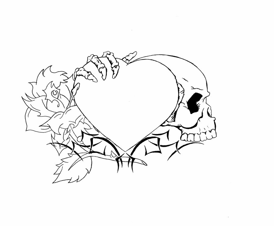 900x745 Heart Tattoo Design Finished By Nomad55