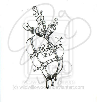 400x418 Amazing Heart Design Drawing Heart Tattoo Drawings