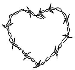 249x231 Barbed Wire Heart Tattoo By Lisamahphone