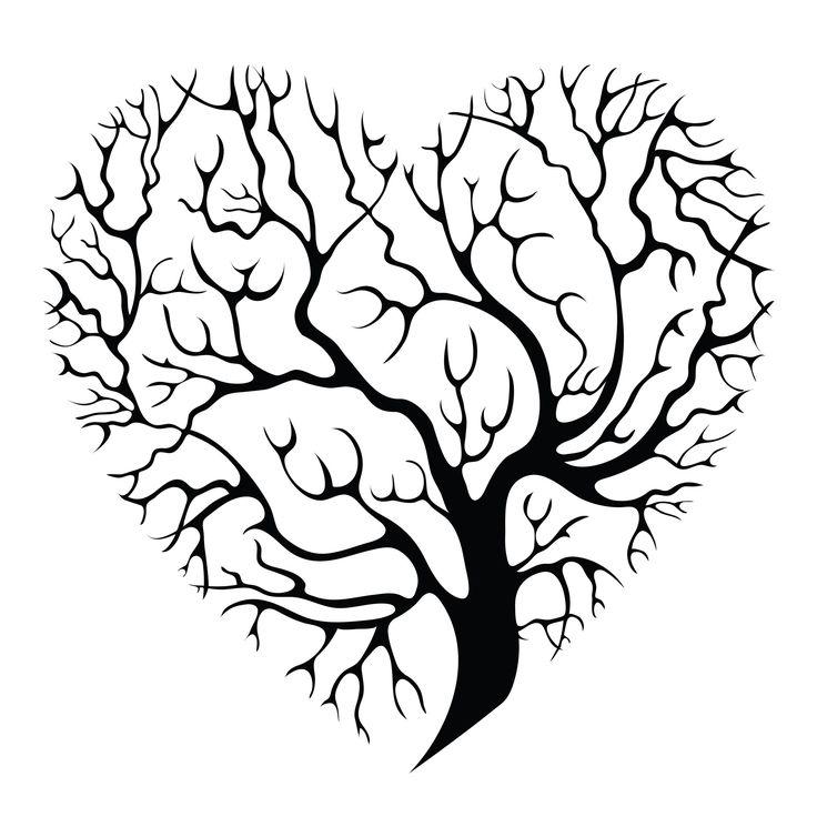 Heart Tree Drawing