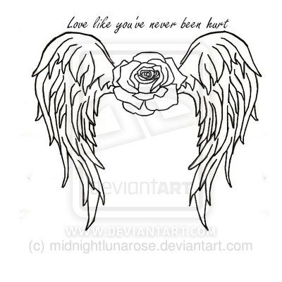 400x400 31 Best Angel Outline Tattoo Heart Images On Angel