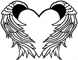 300x231 Heart With Wings Decal Car Or Truck Window Decal Sticker