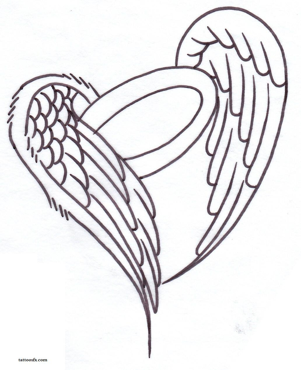 Heart Wings Drawing at GetDrawings.com | Free for personal use Heart ...