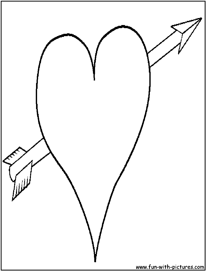 800x1050 11 Images Of Hearts With Wings And Arrow Coloring Page