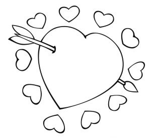300x275 Cupid Coloring Pages Cupid With Bow And Arrow Valentines Day