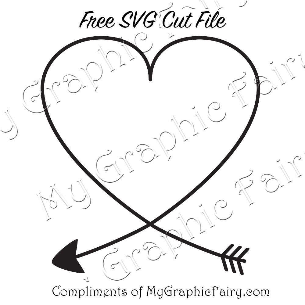 1000x1000 Heart Arrow Svg
