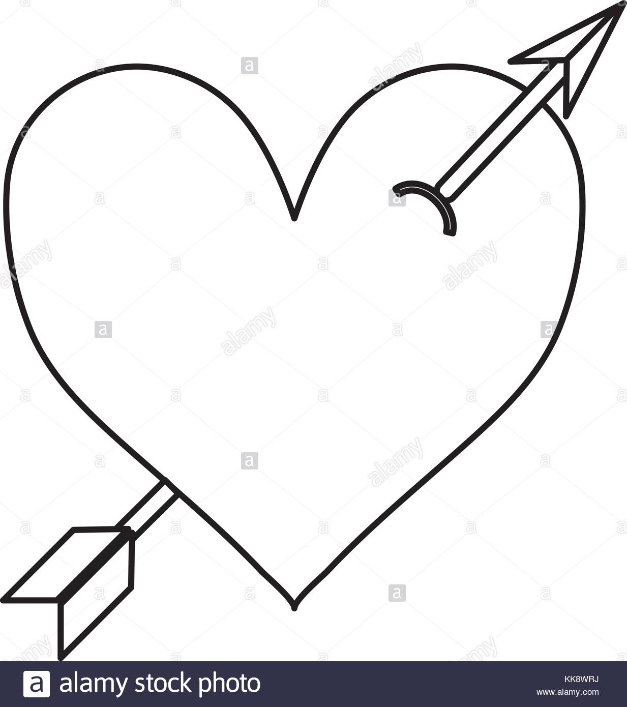 1233x1390 Heart With Arrow Black And White Stock Photos Amp Images