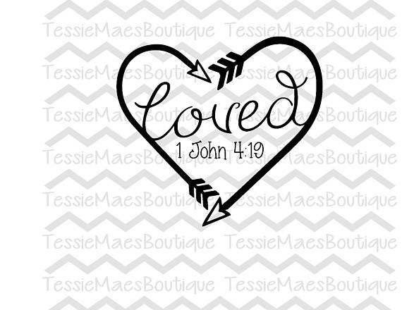 570x440 Loved Heart Arrow Svg Dxf Eps Png Printable Religous