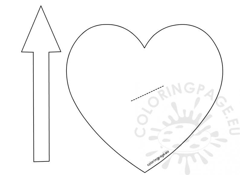 794x581 Printable Heart Pattern With Arrow Coloring Page