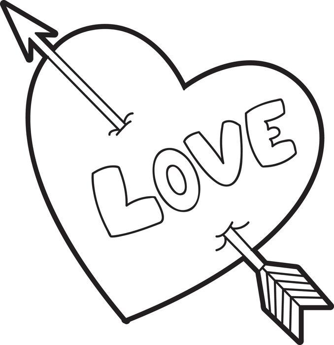 678x700 Color Pages Hearts Coloring Page For Kids