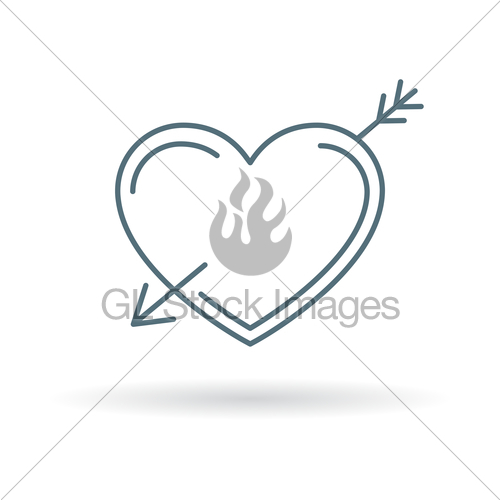 500x500 Arrow Heart Icon Gl Stock Images