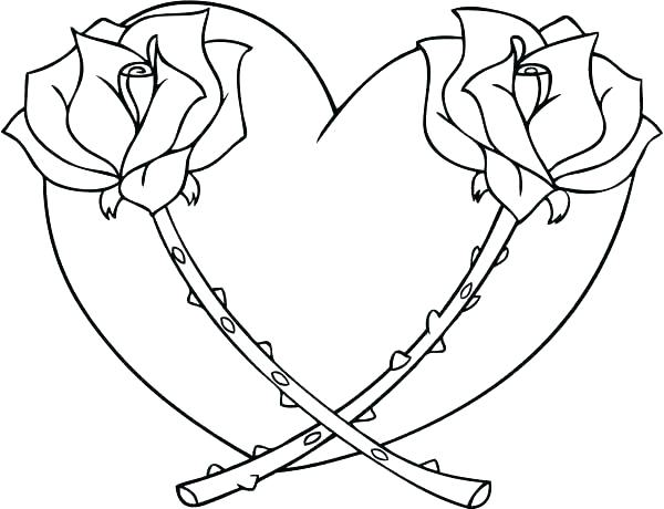 600x460 Coloring Book Hearts Also Valentines Day Heart With Arrow For Love