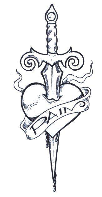 327x630 Drawn Dagger Heart Dagger