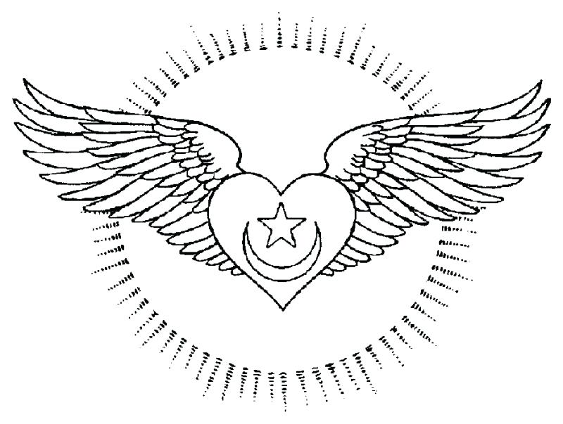 800x603 Hearts With Wings Coloring Pages Heart With Wings Coloring Pages