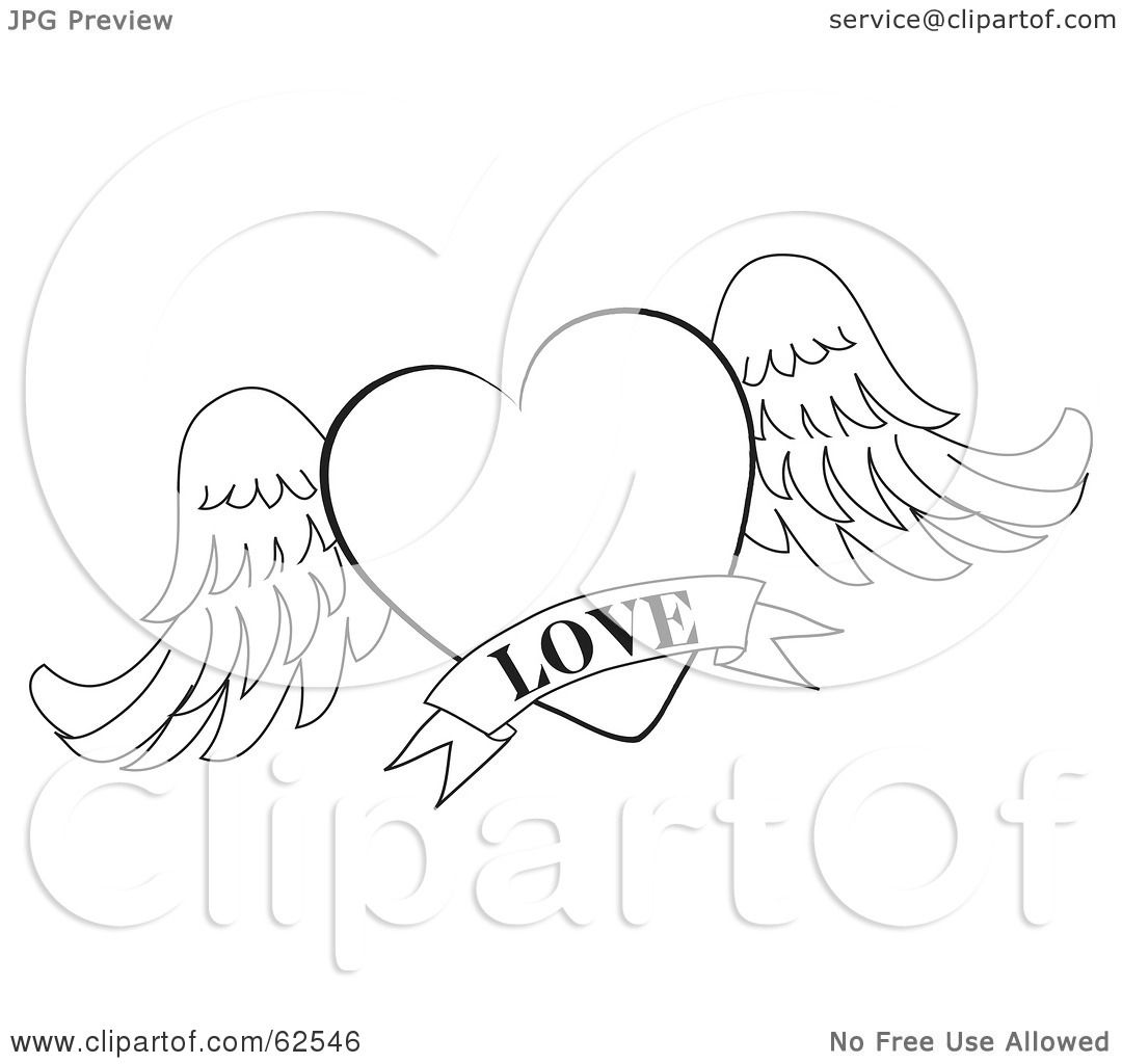 1080x1024 Royalty Free (Rf) Clipart Illustration Of A Black And White Winged