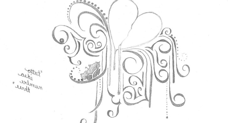 728x393 Collection Of Heart Hope Banner With Flowers Tattoo Design
