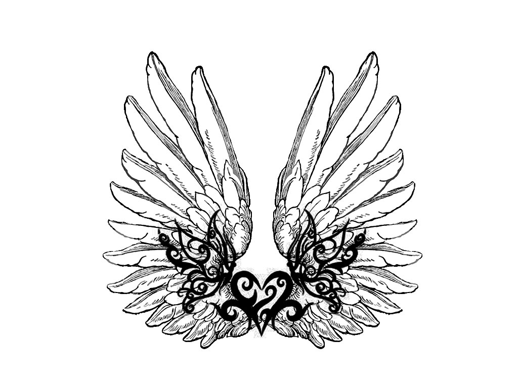 1024x768 Collection Of Sword Heart With Love Banner Tattoo Design