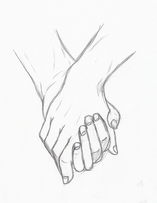 500x647 Holding Hands By ~silouxa On On We Heart It