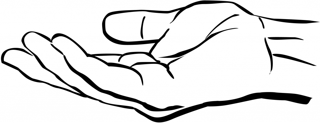 1024x393 Outline Of Hand Hand Outline Drawing Clip Art Hand Drawing Clipart