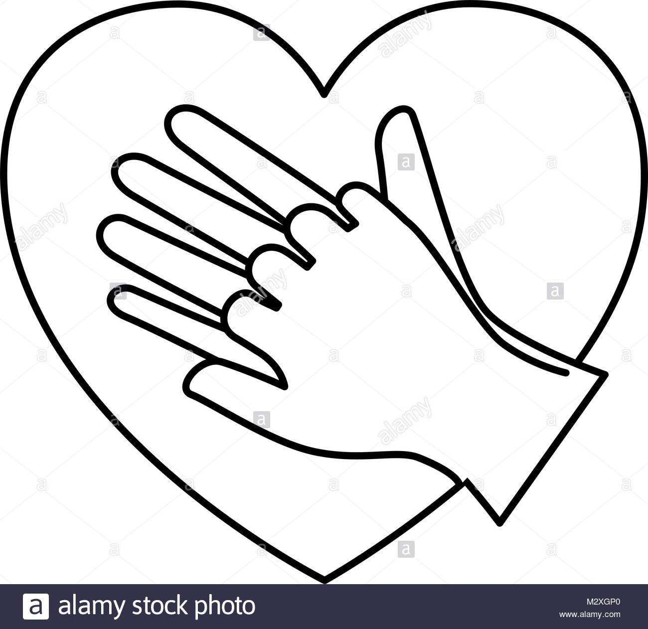 1300x1262 Heart With Hands Icon Stock Vector Art Amp Illustration, Vector