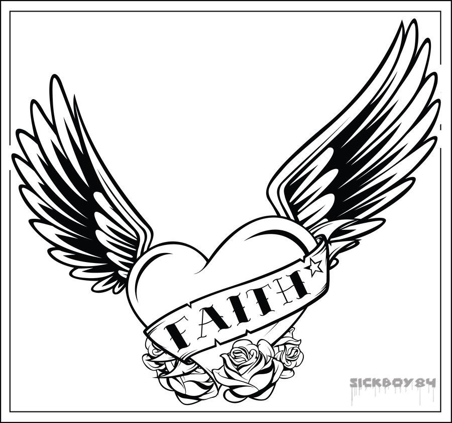 900x841 Heart And Ribbon Tattoo Designs