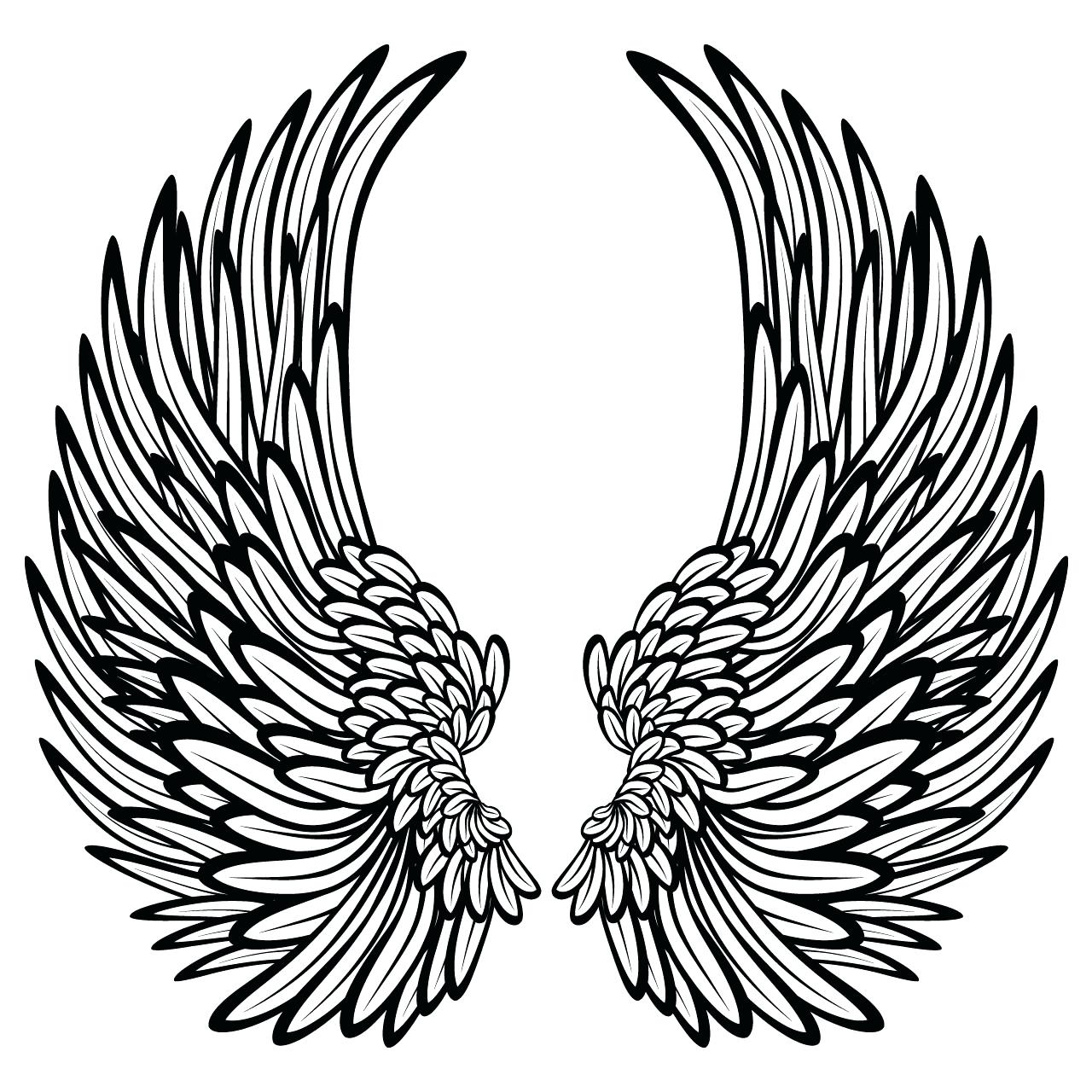 1280x1280 Heart With Ribbon Drawings Coloring Pages Of Hearts Angel Wings