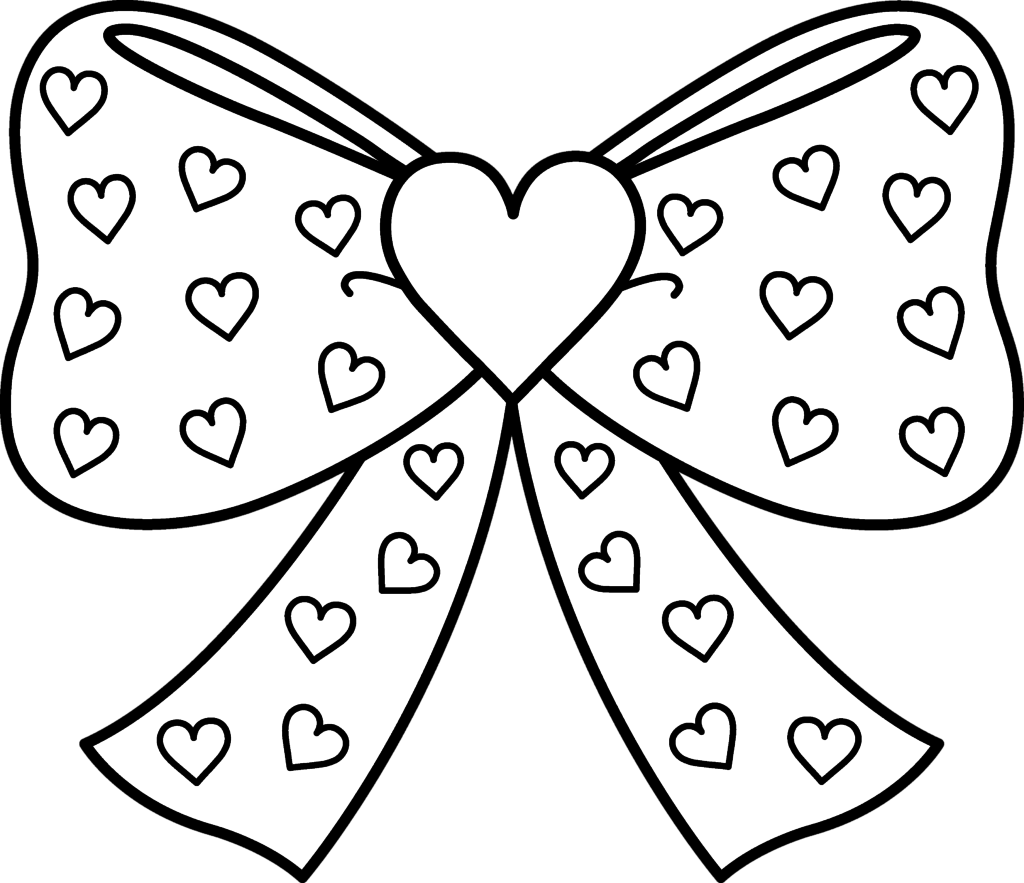 1024x883 Ribbons And Bows Coloring Pages Coloring Page