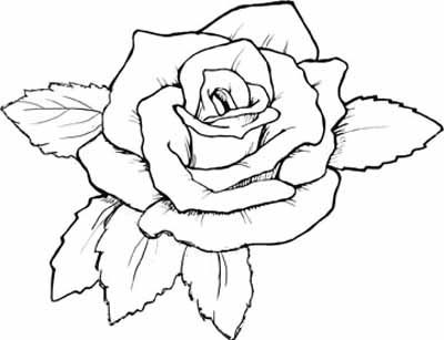 400x307 Heart With Roses Coloring Pages