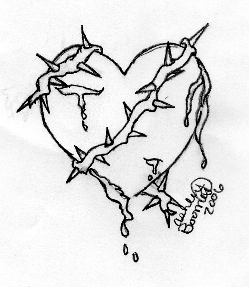 800x920 Heart With Thorns By Boomboom34
