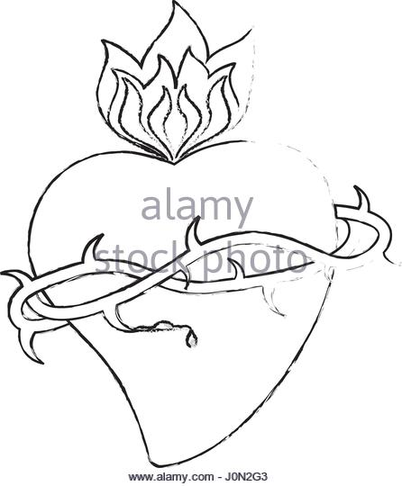 446x540 Bleeding Heart Of Christ Stock Photos Amp Bleeding Heart Of Christ