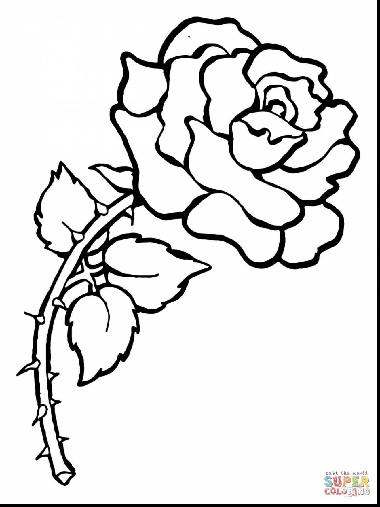 1320x1760 Top 10 Beautiful Rose Coloring Pages Drawing