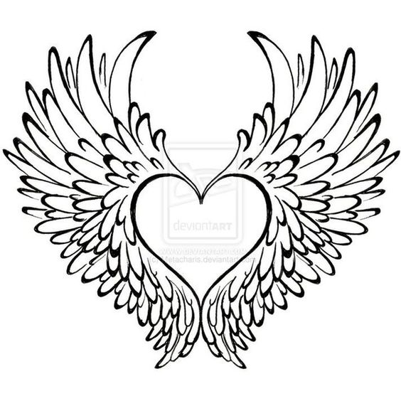 564x564 Heart With Wings Tattoo By ~metacharis On Tattoos I